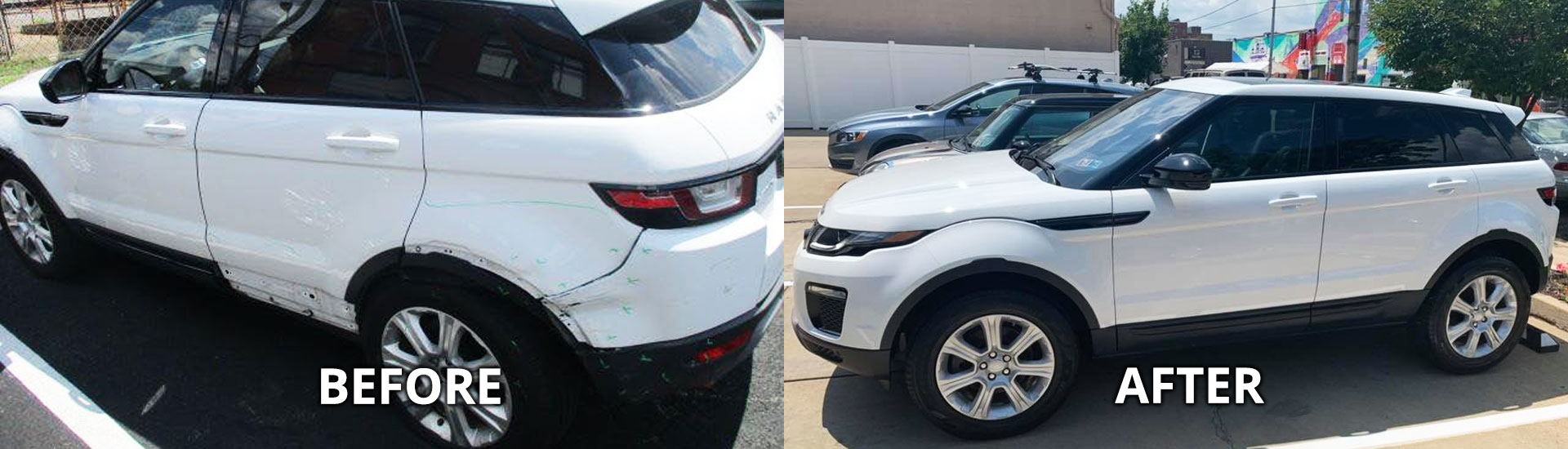 Collision Repair in Pittsburgh, Before and After